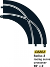 Scalextric C8203 - kurve crossover skinne